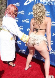Blac Chyna with Alexis Texas at Sapphire in Las Vegas