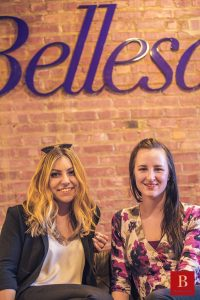 Left is Bellesa CEO Michelle Shnaidman and on the right is Jess McLaren, Head of Erotic Fiction.