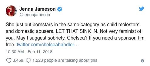 Jenna Jameson rips Chelsea Handler
