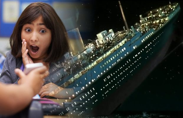 Primary school history class shown porn instead of Titanic video