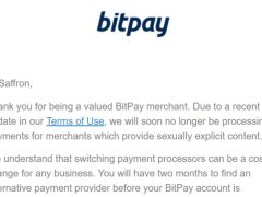 BitPay Payment Processor Bans Adult Content, Gives 2 Months to Switch to BTCPay