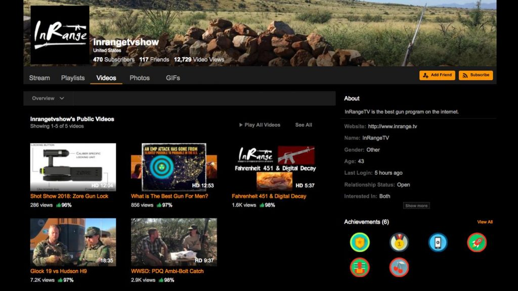 Pornhub provides a safe platform for gun enthusiasts as YouTube pushes out firearms-related videos