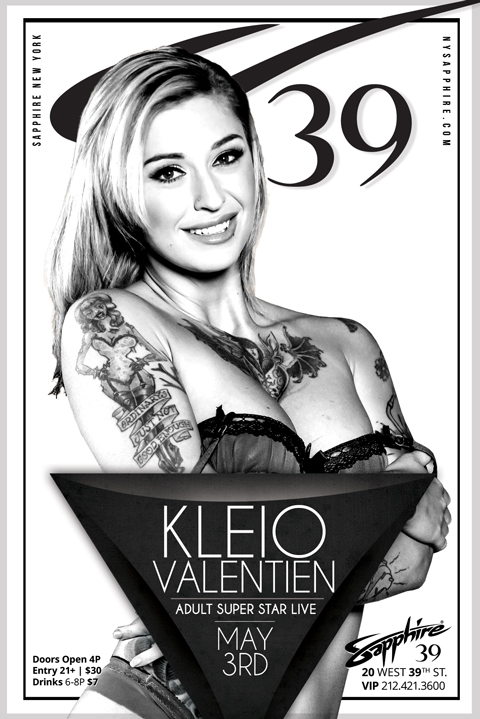 Kleio Valentien Takes the Stage May 3 at NYC's Sapphire 39