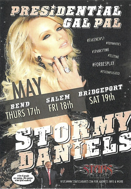 Stormy Daniels performance cut short after drunkard throws wallet at her