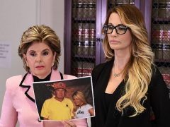 Gloria Allred with Jessica Drake