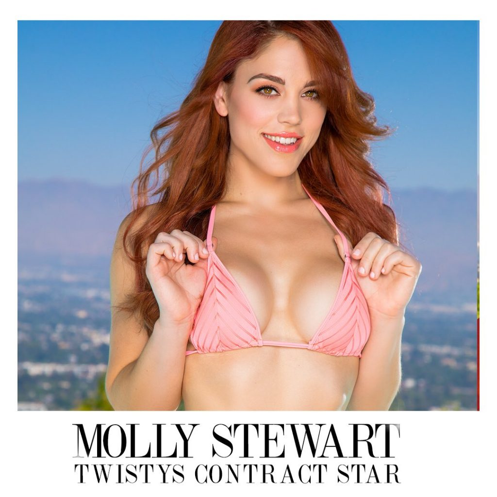 Cam Star Molly Stewart Inks Exclusive Twistys G/G Contract