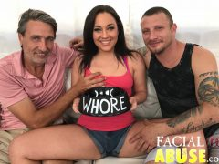 Amara Romani Pushes Herself To The Limit in New FacialAbuse.com Scene