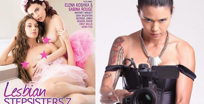 Sabina Rouge Graces the Cover of Dana Vespoli's 'Lesbian Stepsisters 7' @SabinaRouge @danavespoli