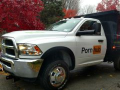'Pornhub Blows America' promotion offers free leaf removal service