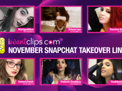 iWantClips Announces Dommes Lineup for November Snapchat Takeover
