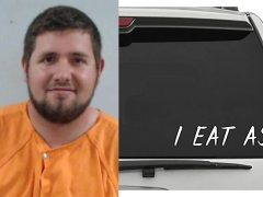 Florida Man's Obscenity Charge Over 'I Eat Ass' Window Sticker Sparks 1st Amendment Claim