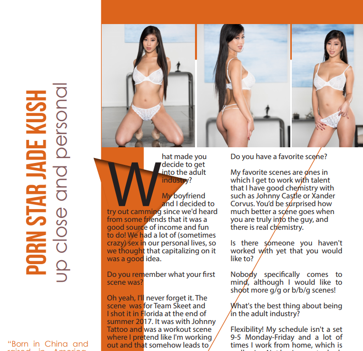 Jade Kush Featured in Nightmoves Magazine