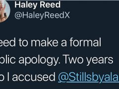 Haley Reed Issues Public Apology to Stills By Alan for False Accusation on Twitter; Alan Accepts