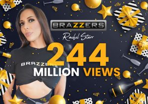 Rachel Starr Celebrates More Than 244 Million Views on Brazzers
